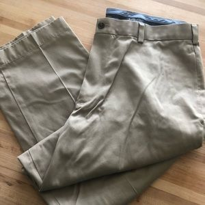 Brooks Brothers pleated khakis